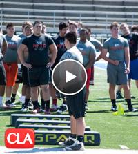 The camp featured Top Southern California football recruits, Arizona, Nevada